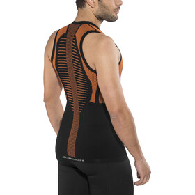 X-Bionic The Trick Running Singlet Herre black/orange shiny